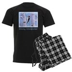 Downy Woodpecker Men's Dark Pajamas