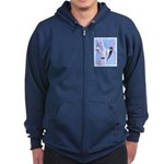 Downy Woodpecker Zip Hoodie (dark)