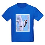 Downy Woodpecker Kids Dark T-Shirt