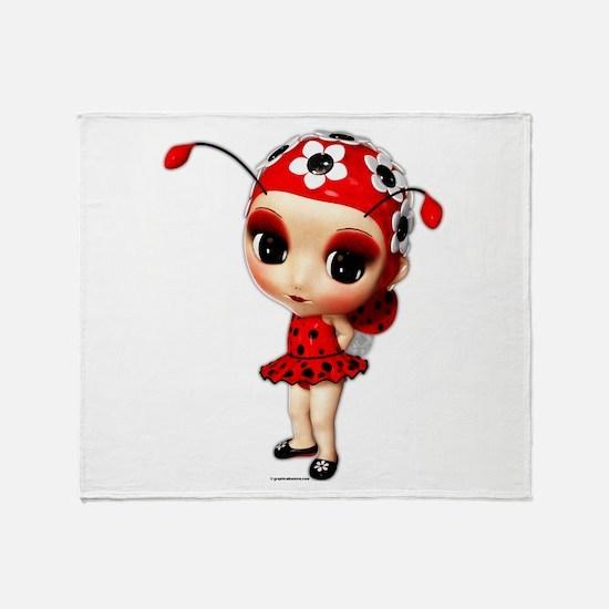 Little Miss Ladybug Throw Blanket
