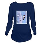 Downy Woodpecker Long Sleeve Maternity T-Shirt