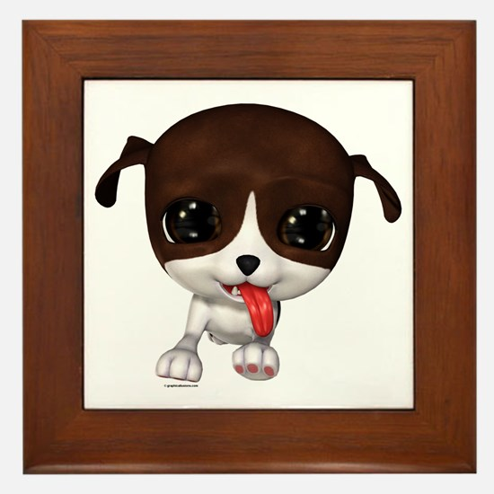 Cute Puppies: PawPaw Framed Tile