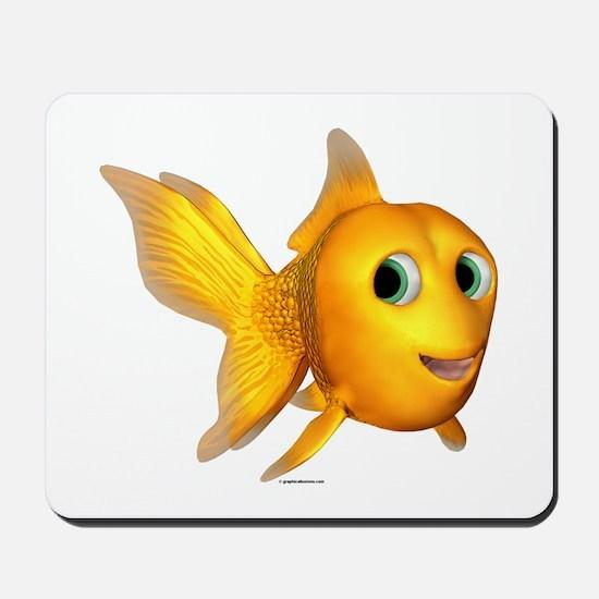Goldie Toon Goldfish Mousepad