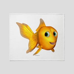 Goldie Toon Goldfish Throw Blanket