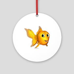 Goldie Toon Goldfish Ornament (Round)