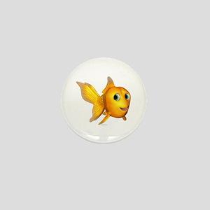 Goldie Toon Goldfish Mini Button