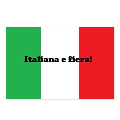 Italian and Proud (female)Postcards (Package of 8)