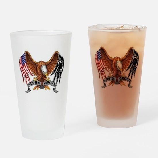 POW MIA Drinking Glass