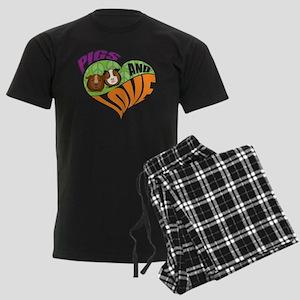 Pigs and Love Men's Dark Pajamas