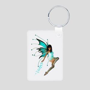 The Aqua Fae Aluminum Photo Keychain