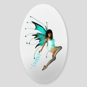 The Aqua Fae Sticker (Oval)