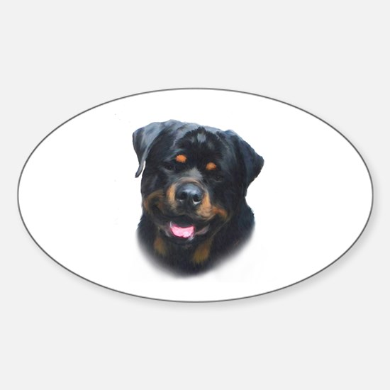 General -Rottweiler Head ( Ma Sticker (Oval)
