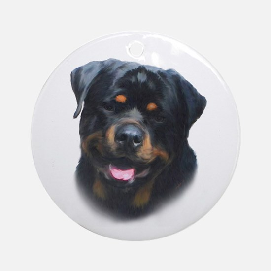 General -Rottweiler Head ( Ma Ornament (Round)