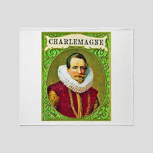 Charlemagne Cigar Label Throw Blanket