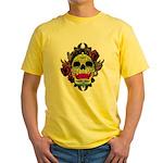 Sugar Skull Yellow T-Shirt