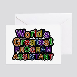 World's Greatest PROGRAM ASSISTANT Greeting Card