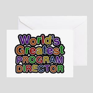 program director greeting cards cafepress