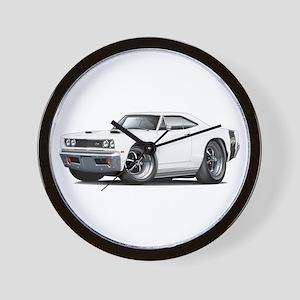 1969 Super Bee White Car Wall Clock