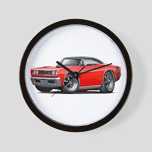 1969 Super Bee Red-Black Car Wall Clock
