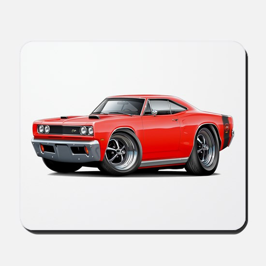 1969 Super Bee Red-Black Car Mousepad