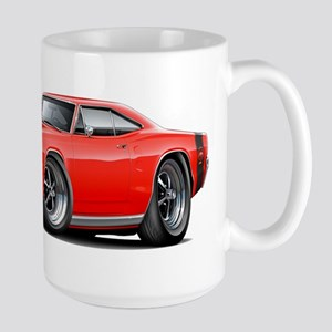 1969 Super Bee Red-Black Car Large Mug
