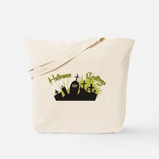 Halloween Greetings Tote Bag