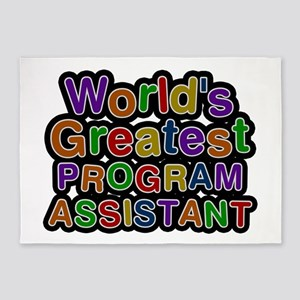 World's Greatest PROGRAM ASSISTANT 5'x7' Area Rug