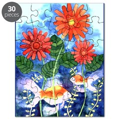 Fish and Flowers Art Puzzle