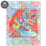 Multicolor Oak Leaf Art Puzzle