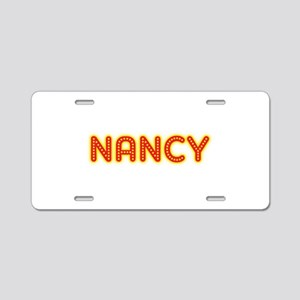 Nancy in Movie Lights Aluminum License Plate