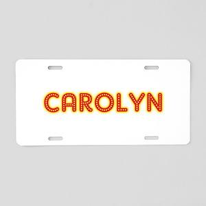 Carolyn in Movie Lights Aluminum License Plate