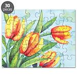 Tulips Watercolor Puzzle