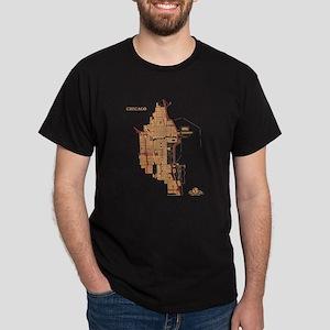 Chicago Men's T-Shirt Gold on Black
