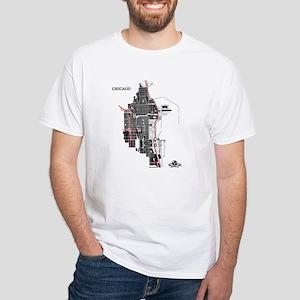 Chicago Men't T-Shirt Black on White