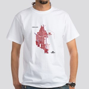 Chicago Men't T-Shirt Red on White