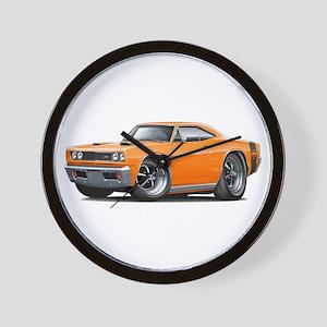 1969 Super Bee Orange Car Wall Clock