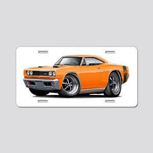 1969 Super Bee Orange Car Aluminum License Plate