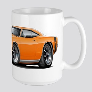 1969 Super Bee Orange Car Large Mug