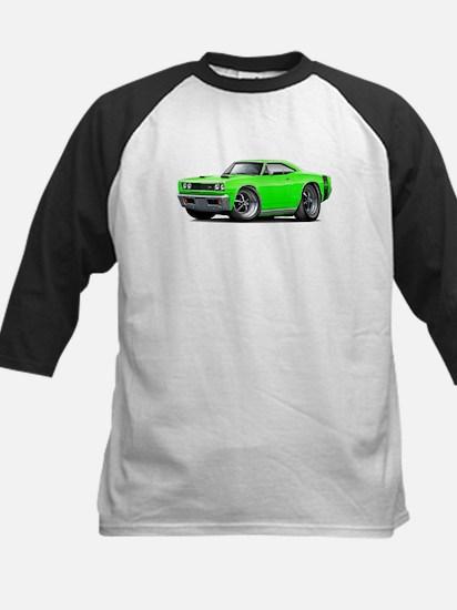 1969 Super Bee Lime Car Kids Baseball Jersey