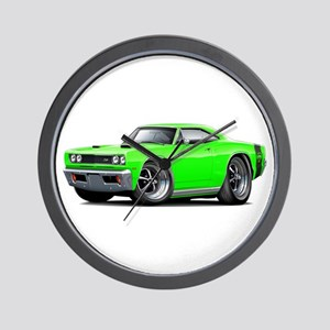 1969 Super Bee Lime Car Wall Clock