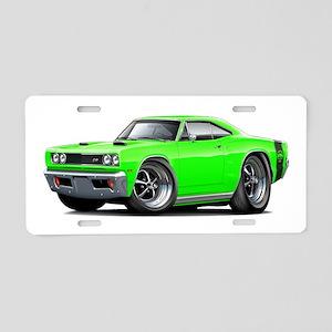 1969 Super Bee Lime Car Aluminum License Plate