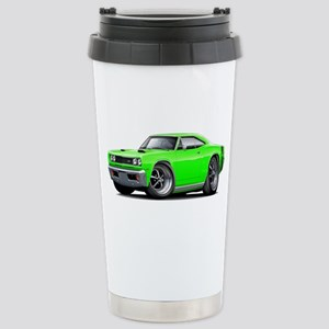 1969 Super Bee Lime Car Stainless Steel Travel Mug