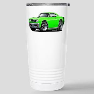 1969 Super Bee Lime Car Stainless Steel Travel Mug
