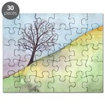 California Tree Watercolor Puzzle