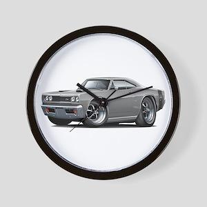 1969 Super Bee Grey Car Wall Clock