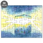 Birthday Box Watercolor Puzzle