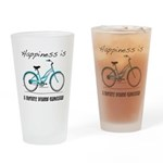 Happiness is a Beach Cruiser Drinking Glass