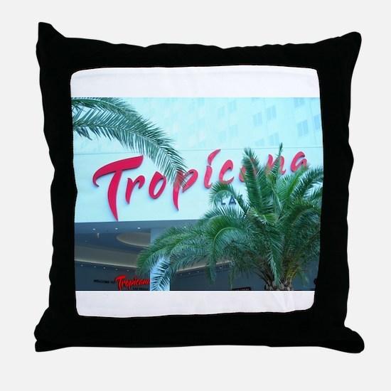 Las Vegas Tropicana Hotel Throw Pillow