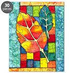 Autumn Quilt Watercolor Puzzle