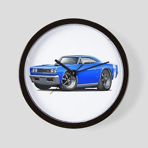 1969 Super Bee Blue Car Wall Clock